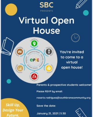 JOIN US FOR A VIRTUAL OPEN HOUSE!!