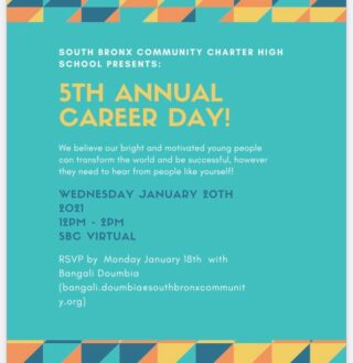 🗣 CALLING ALL PROFESSIONALS. Help our students gain insight to an array of career paths.