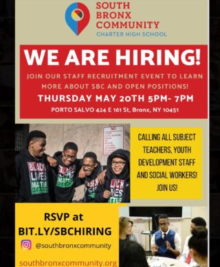 ARE YOU A PHENOMENAL TEACHER? Do you know someone who is? Join our staff recruitment event next week! RSVP is a must!