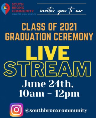 Join our Class of 2021 graduation ceremony tomorrow via Instagram live stream from 10am - 12pm!